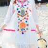 Half Sleeve Embroide Boho Dresses