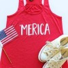 Merica O-Neck Sleeveless Tank