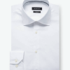 Shaped Fit Long Sleeve Solid Cotton Dress Shirt